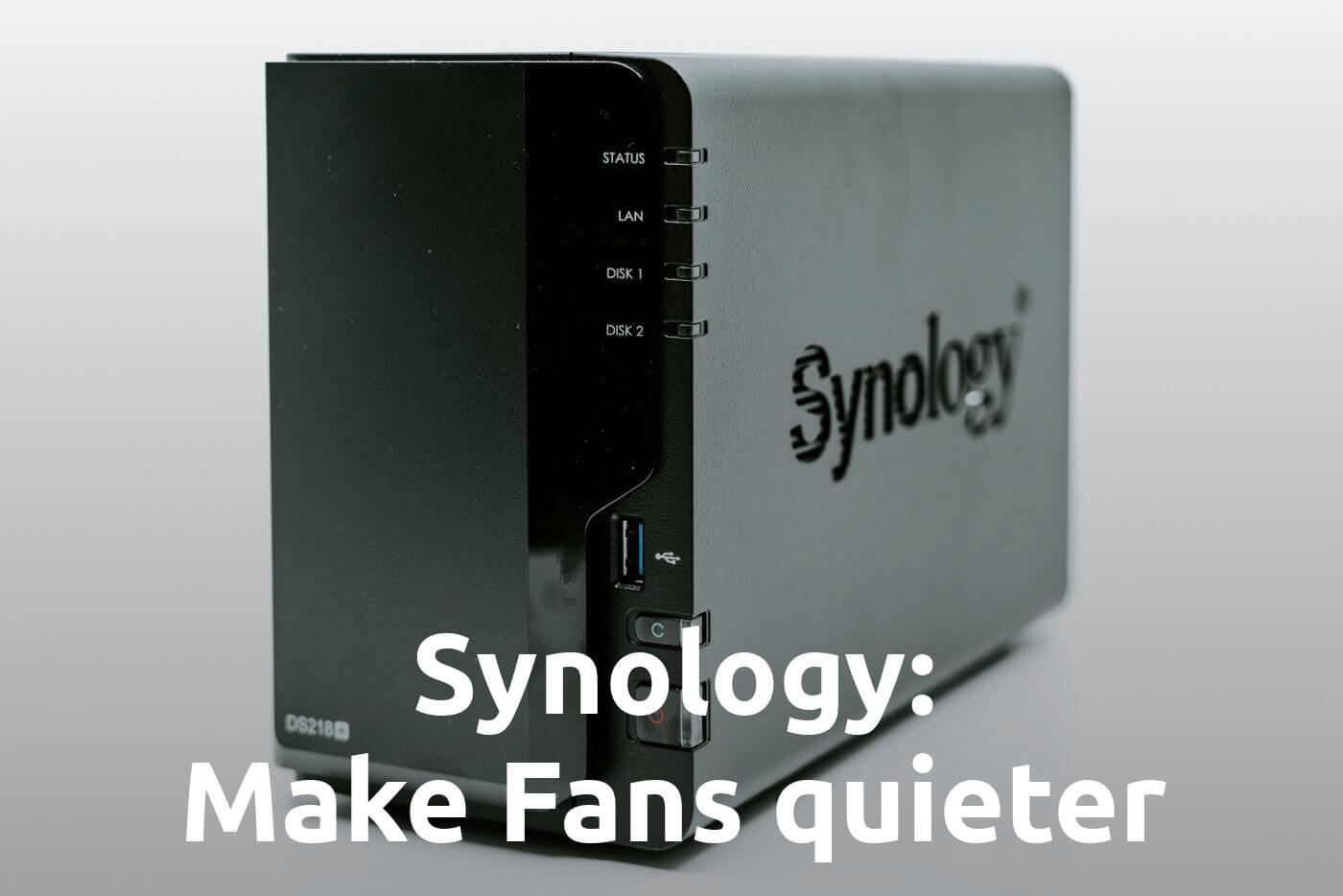 [How-to] Make Synology Diskstation Fans quieter! - via custom Fan Profile and Hibernation